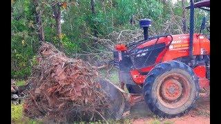 คูโบต้า KUBOTA M9540 ดันไม้