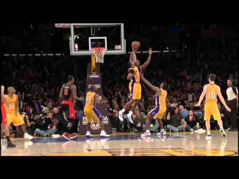 Kobe Bryant Greatest Comeback Game - 41 points vs Raptors (3/8/2013)