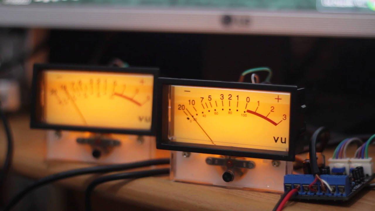 Analog Vu Meter : Analog vu meter test guitar recording youtube
