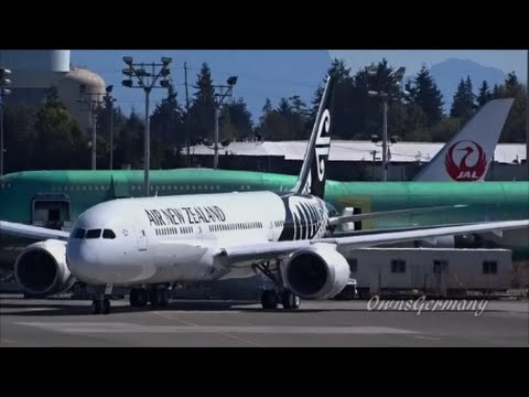 2nd Air New Zealand 787-9 Dreamliner First Flight After High Speed Brake Test