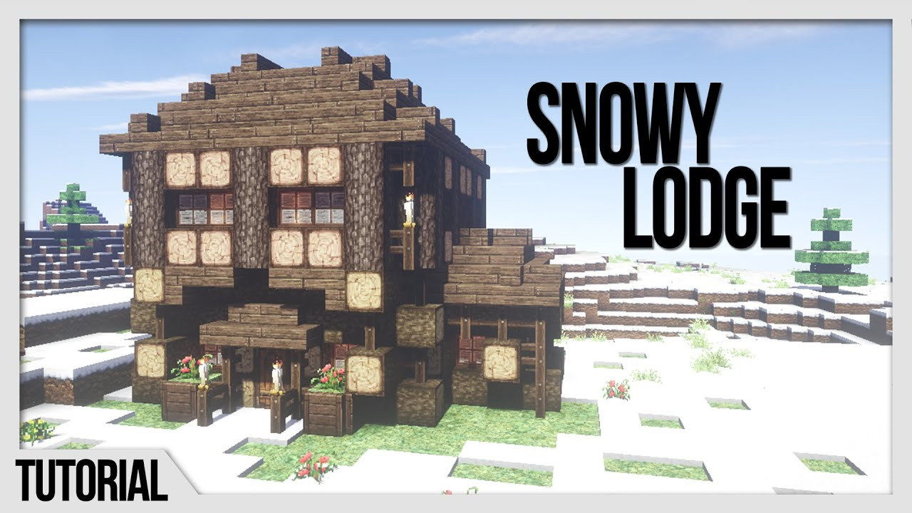 Amazing photo of Winter Cabin Minecraft Building Tutorial How to Build Stuff  with #2A5DA1 color and 1920x1080 pixels