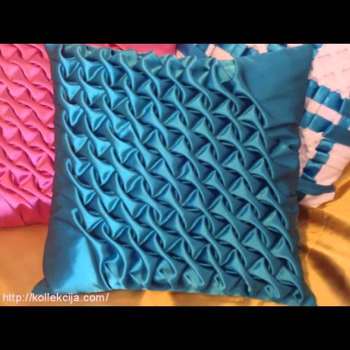 Как сделать буфы на подушке.