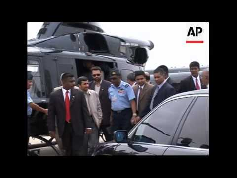 Ahmedinejad ends SLanka visit, arrives in India