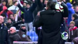 Atletico Madrid - Real Madrid Simeone and ball boy his son
