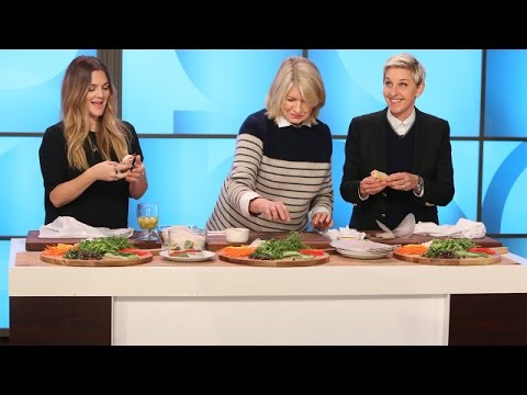 Martha Stewart Cooks with Ellen and Drew