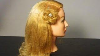Прическа: Цветок из волос. Braided flower spring look hair tutorial