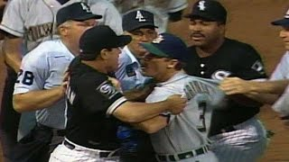 Coaches get into a fight near third base