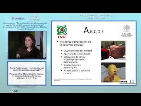 Valoración y reanimación del paciente pediátrico quemado - Dra. María Chacón Gómez