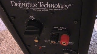 Definitive Technology Excellent Customer Service
