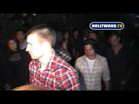 Celebrities At Chris Evans Birthday Party. Video