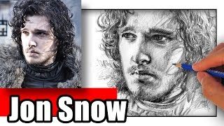How to Draw Jon Snow from Game of Thrones