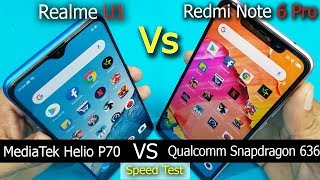Realme U1 vs Redmi Note 6 Pro Speed Test || Antutu Benchmark Scores || Rs.14,499 Vs Rs.13999