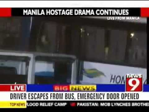 Manila, Philippines Bus Hijack - Incompetent Philippines SWAT Team storming in.