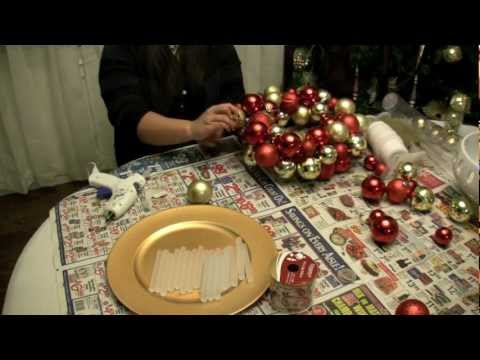 How To Make A Christmas Ornament Ball Wreath