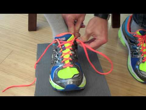 learn how to properly lace and tie your running shoes