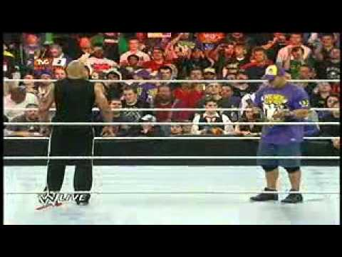 WWE RAW 28/3/11MIZ FRENTE THE ROCK & JHON CENA Attitude Adjustment THE ROCK EN ESPAÑOL