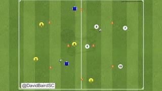 Complex 10 players passing training session - COMPONENT 2