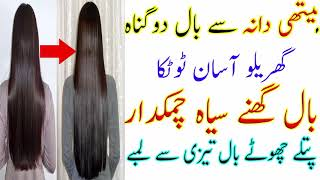 How to Double Hair Growth Metthi Dana Say Baal Dogna Baal Ghanay Siyaah Chamakdar Grow Long Hair