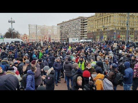 Забастовка избирателей Москва митинг 28 января (часть 1 пл.Маяковского)