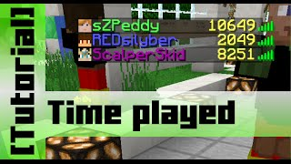 Display Time Played on a Server [Tutorial] Command Blocks