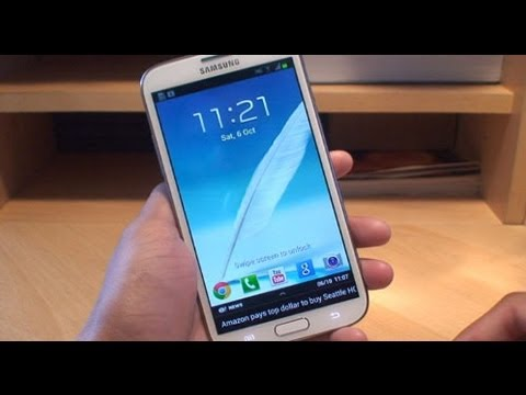 Samsung Galaxy Note 2 How to Customize Lock Screen Apps / Icons GT-N7100