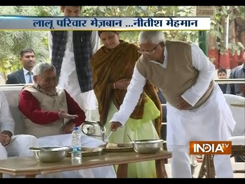 Nitish Kumar Joins Lalu Prasad in Celebrating Makar Sankranti