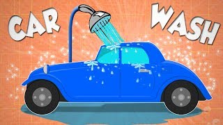 Vintage Car Wash Video For Kids And Babies | Fun to watch Car Wash Cartoon for children