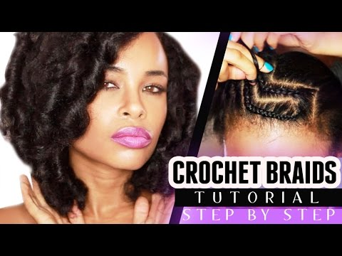Crochet Marley Hair Youtube : CROCHET BRAIDS w/ MARLEY HAIR! (step by step) - YouTube