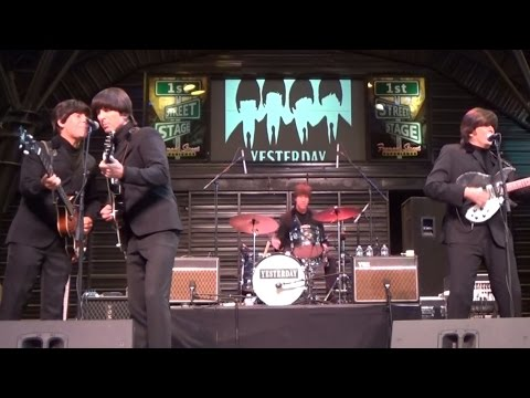 13 Songs BY The Beatles Tribute Band Yesterday At Fremont Street Experience Las Vegas