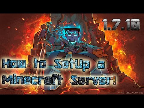 How to Make a minecraft server on 1.7.10 (Best Tutorial) (Bukkit) (No Hamachi)