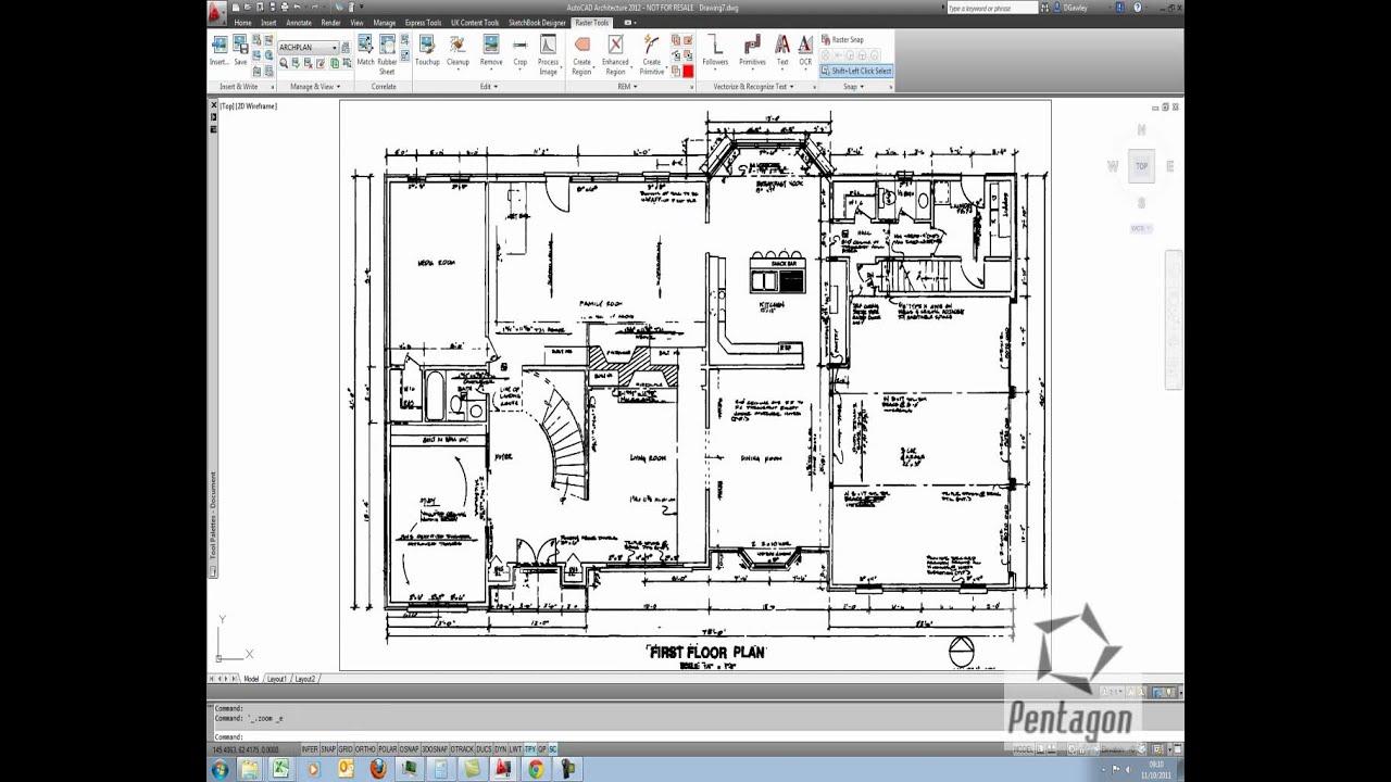 using raster design in autocad 2012 youtube. Black Bedroom Furniture Sets. Home Design Ideas