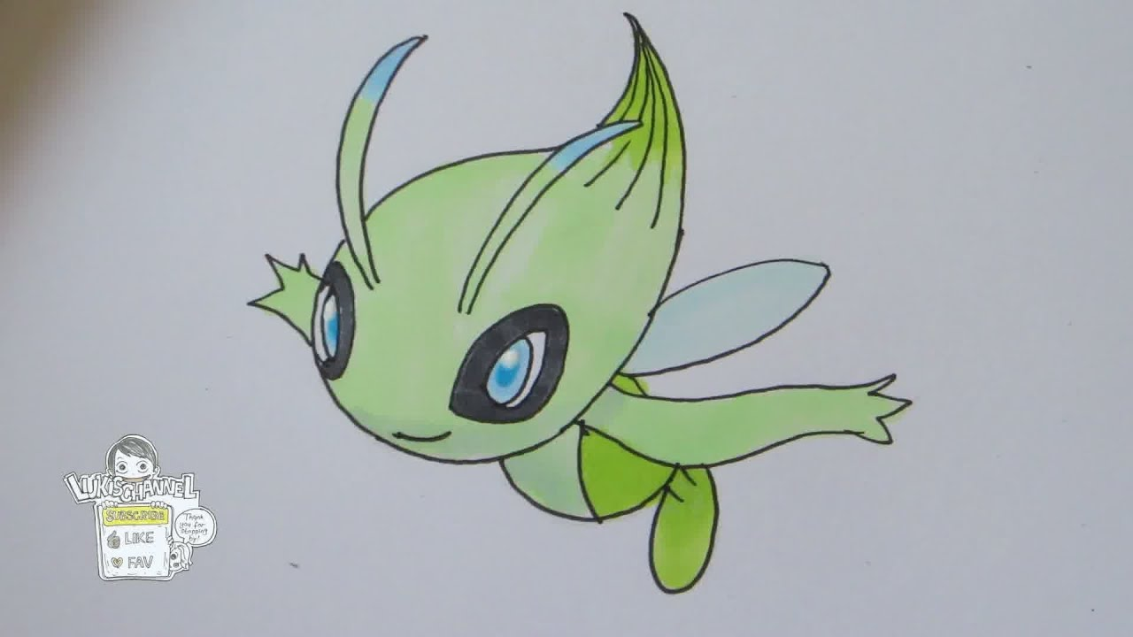 Celebi Pokemon Drawing How to Draw Pokemon No.251