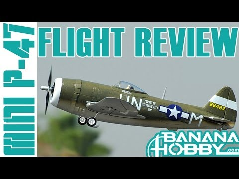 Mini P-47 FMS   Flight Review   Warbird & Military
