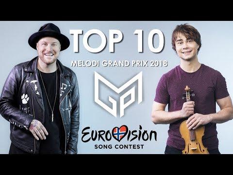 My Top 10 - Melodi Grand Prix  2018 (Norway Eurovision 2018)