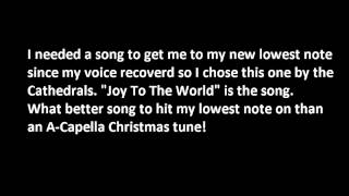 Joy To The World my lowest bass note