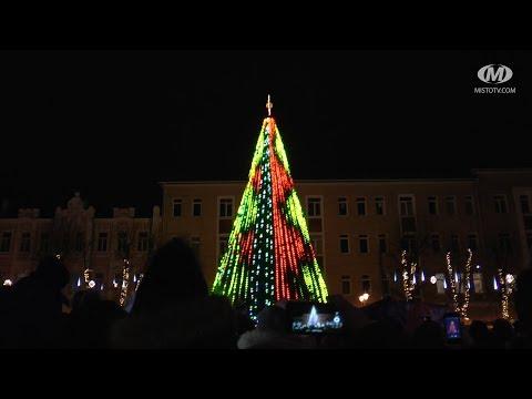 Олександр Симчишин запалив новорічну ялинку в Хмельницькому