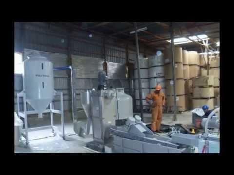 Plastic recycling machine in Uganda