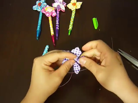 Manualidades y accesorios la hormiga. como decorar tus lapiceros. video No.023