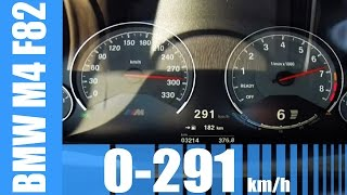 BMW M4 F82 Acceleration AMAZING! 0-291 km/h LAUNCH CONTROL & Top Speed Test