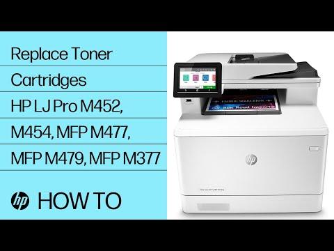 Replace Toner Cartridges | HP LaserJet Pro M452, M454, MFP M477, MFP M479, MFP M377 | @HPSupport