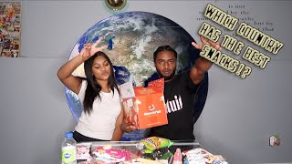 FIRST TIME EATING SNACKS FROM AROUND THE WORLD | MUNCHPAK UNBOXING & TASTE TEST!