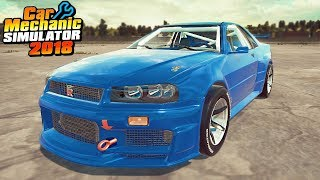 R34 GTR Fast and Furious - Car Mechanic Simulator 2018