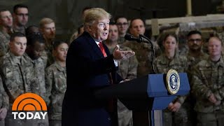 President Trump Makes Surprise Visit To Troops In Afghanistan | TODAY