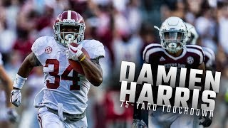 Alabama RB Damien Harris scores 75-yard touchdown vs Texas A&M