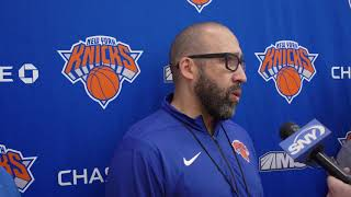 Coach Fizdale Speaks at Knicks Practice, 10/14/19