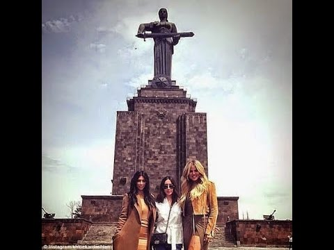 Kim Kardashian & Khloe's tour of Armenia (Photos)