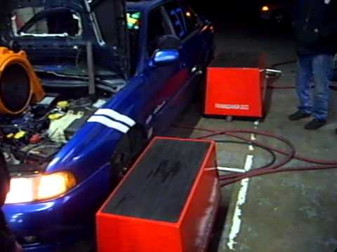 1995 BD Subaru Legacy Dynapack dyno. has a ej25 with vF10- 5 PSI, no tune