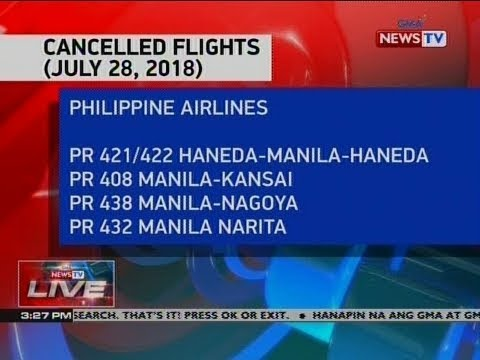 NTVL: Cancelled flights (July 28, 2018)