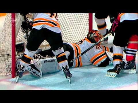 Referee ends the play before Hossa can put the puck in the net - disallowed goal June 15 2013 HD
