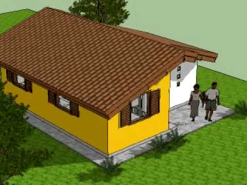 Casa popular projeto embri o 38m youtube for Casa popular